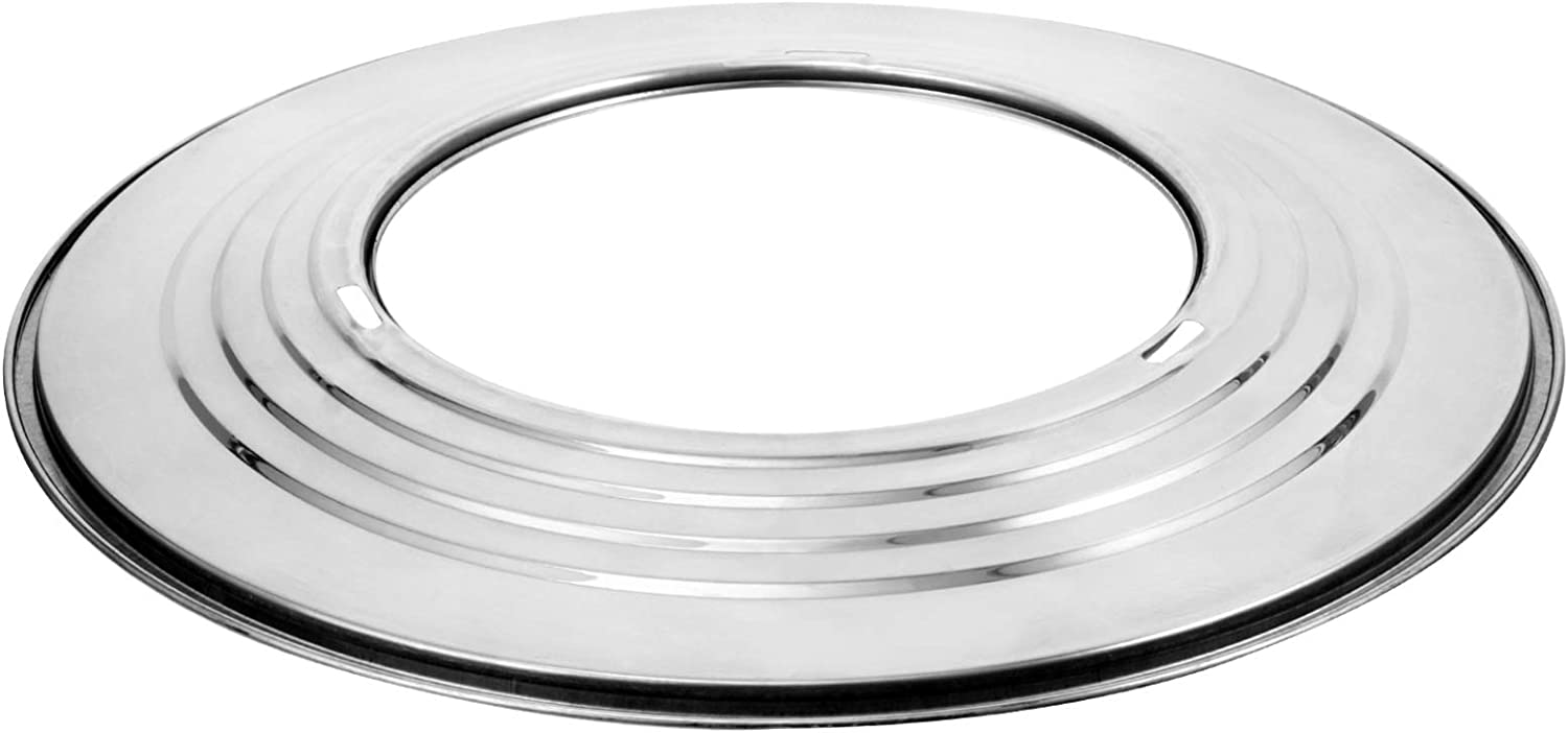 YARNOW Steam Ring Stainless Steel Steaming Ring Adapter 31x31cm Round Steamer Canning Rack Stand Baking Pressure Cooker Shelf
