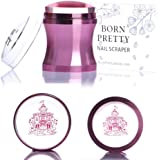 BORN PRETTY Nail Art Stamper Clear Silicone Jelly Marshmallow Head Rose Gold Metal Handle with Cap and Scraper Manicure Print Tool