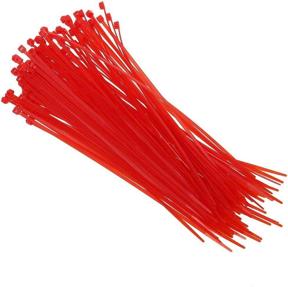 Draht Krawatten Toogoo R 100 Stueck 3mm X 200 Mm Rot Patch Klemme Stopp Kabel Kabelbinder Baumarkt