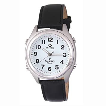 strap talking clocks controlled watches leather shop rnib ladies blind with radio watch and online