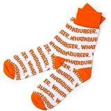Whataburger Channel Letter Socks