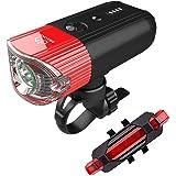 自転車ライト モバイルバッテリーUSB充電 前照灯 高輝度 1000 ルーメン 4000mah IP65 光感センサー+振動センサー 高輝度 USB充電式テールライト付き