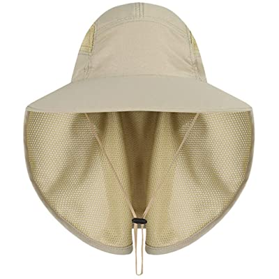 Umitay Uv Protection Camping Hat Summer New Sun Protection Fishing Hat Foldable Mesh Wide Brim Beach Fishing Hat: Sports & Outdoors