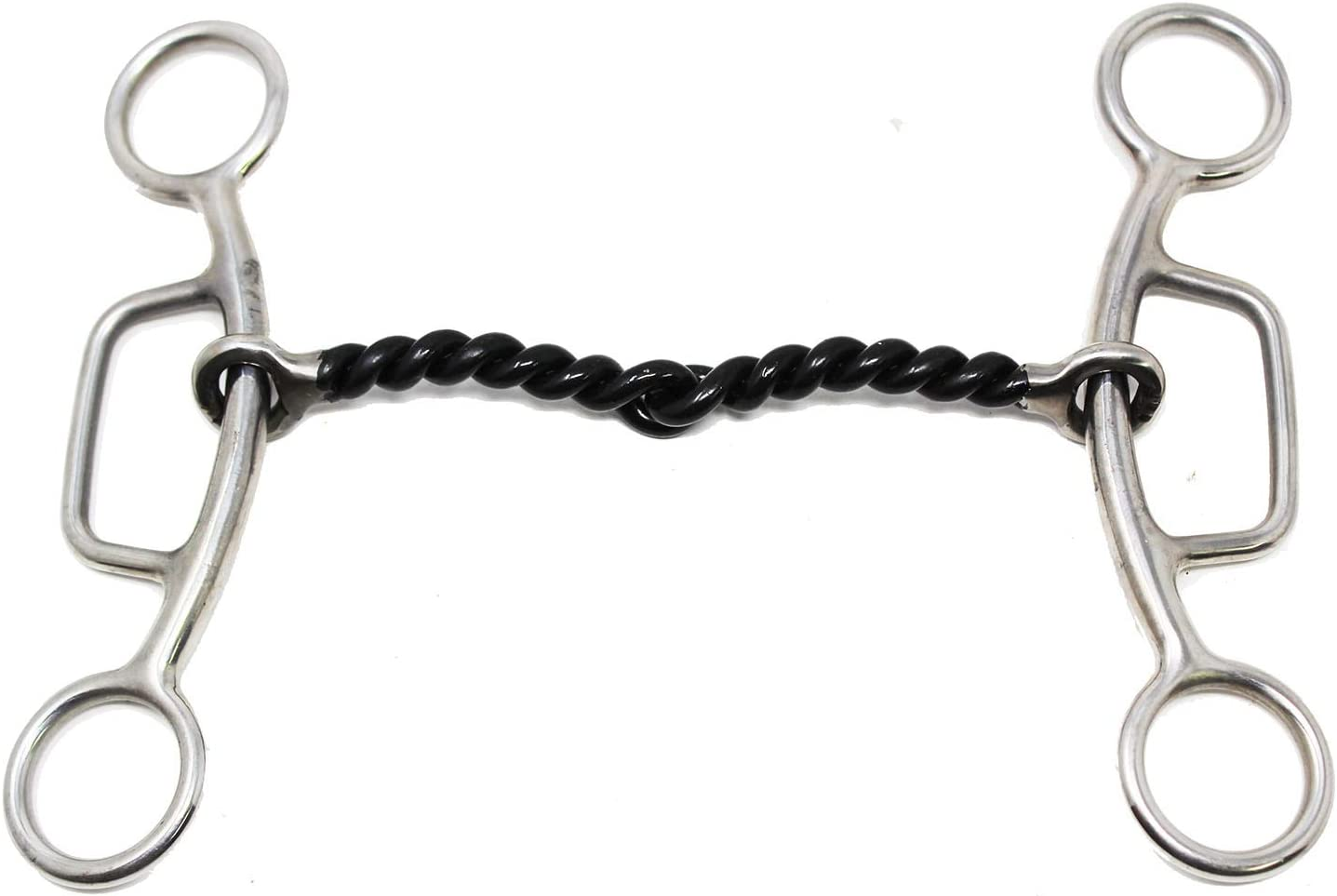 "SS Sliding Gag Twisted Wire 5-1//8/"" Mouth Horse Snaffle bit 35183"