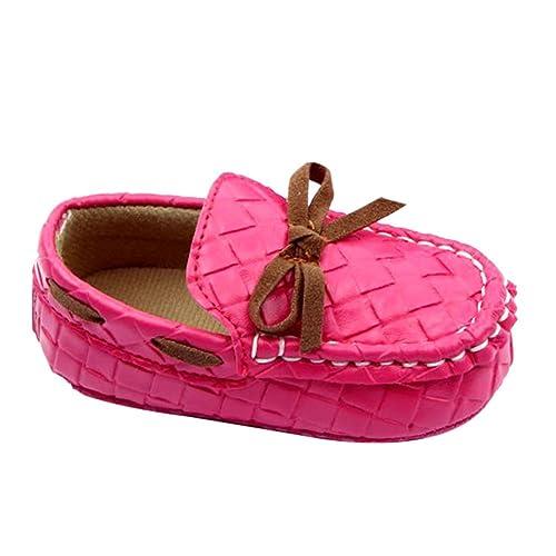 Ochine Bebe Mocasines Piel Sintetica Suave Encaje Plano Cuna Zapatos: Amazon.es: Zapatos y complementos
