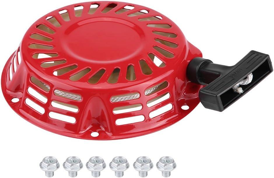 Arrancador de arranque, Arranque de retroceso Arranque Arranque de arranque para generador de gasolina 2KW 168F, rojo