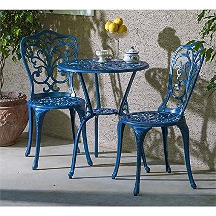 Alfresco Home Patio Furniture.Amazon Com Alfresco Home Triora Cast Aluminum Bistro Set In