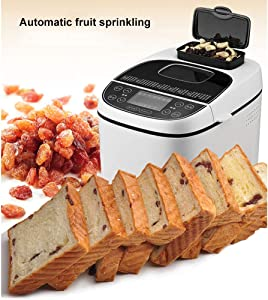 Bread Maker Automatic Fastbake Breadmakers Compact Bread Machine with Gluten Free Menu 1Kg Large Capacity Three Burnt Colors Environmental Protection Health