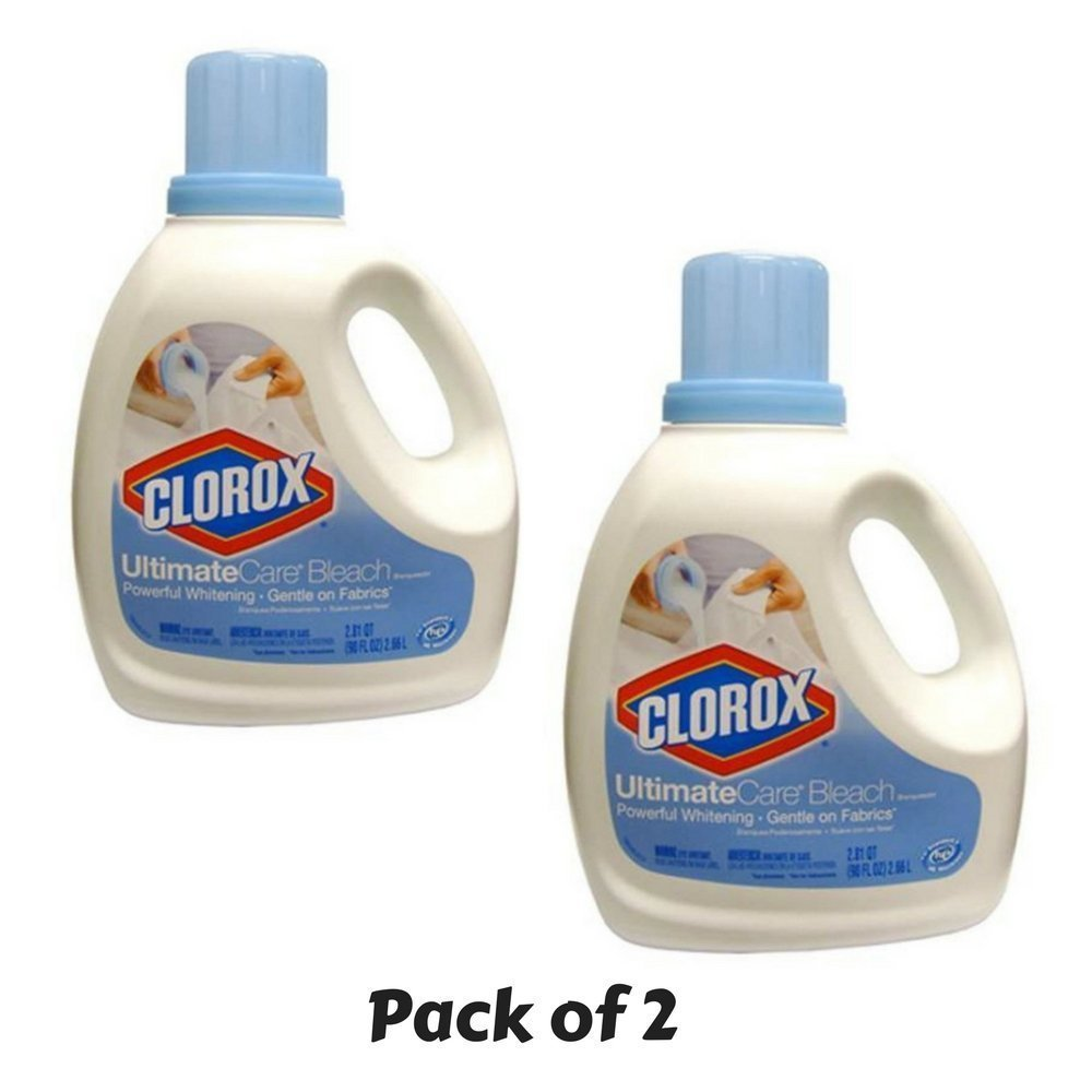 Clorox 01693 UltimateCare Premium Bleach, 90 fl oz Bottle - PACK of 2