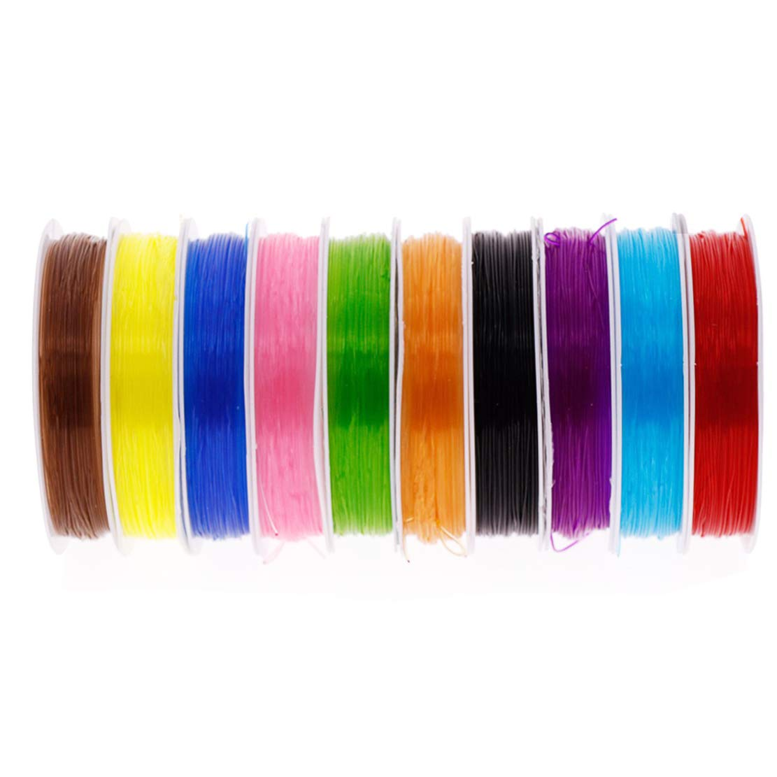 Bracelet String Elastic Stretch Threads Clear Crystal Beading String for Jewelry Bracelet Making (Color 1, 0.8mm) DIY House Seller