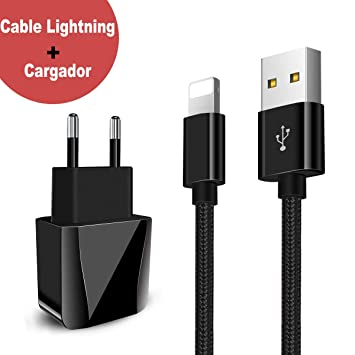 Zeuste-Quick Cargador Móvil con 2 Puertos USB Compatible con la mayoría de Dispositivos móviles,2M Cable Phone para Phone XS/XR/X/8/8 ...