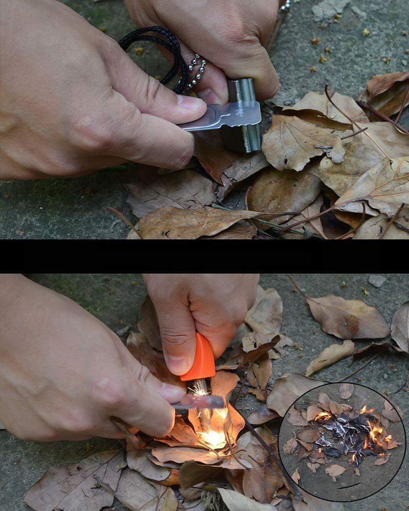 TxDike Lan Survival Spark Magnesium,Living Fire Starter,Fire Starter Kit,Camping Emergency Rescue,53mmlong by TxDike Lan