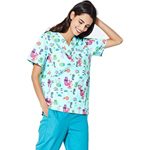 Rr Enfermera Ropa De Trabajo Del Hospital Manga Corta Con