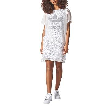 adidas CG1561 Vestido de Tenis, Mujer, Blanco/Tinley, 48: Amazon.es: Deportes y aire libre