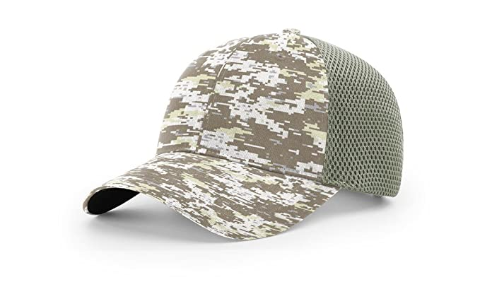 447ae752 Richardson 855 Camo Airmesh R-Flex Blank Baseball Cap Fit Hat