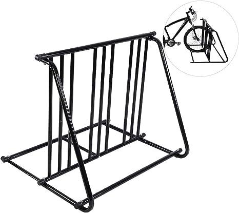 Soporte para Bicicleta de Suelo, Aparcabicicletas de Hierro ...