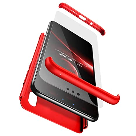 BESTCASESKIN Funda Xiaomi Mi A2, Carcasa Móvil de Protección de 360° 3 en 1 Desmontable con HD Protector de Pantalla Carcasa Caso Case Cover para ...