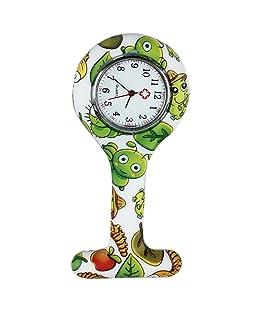 TOOGOO Reloj Bolsillo de Broche en Silicona para Enfermeros y Paramedicos Verde