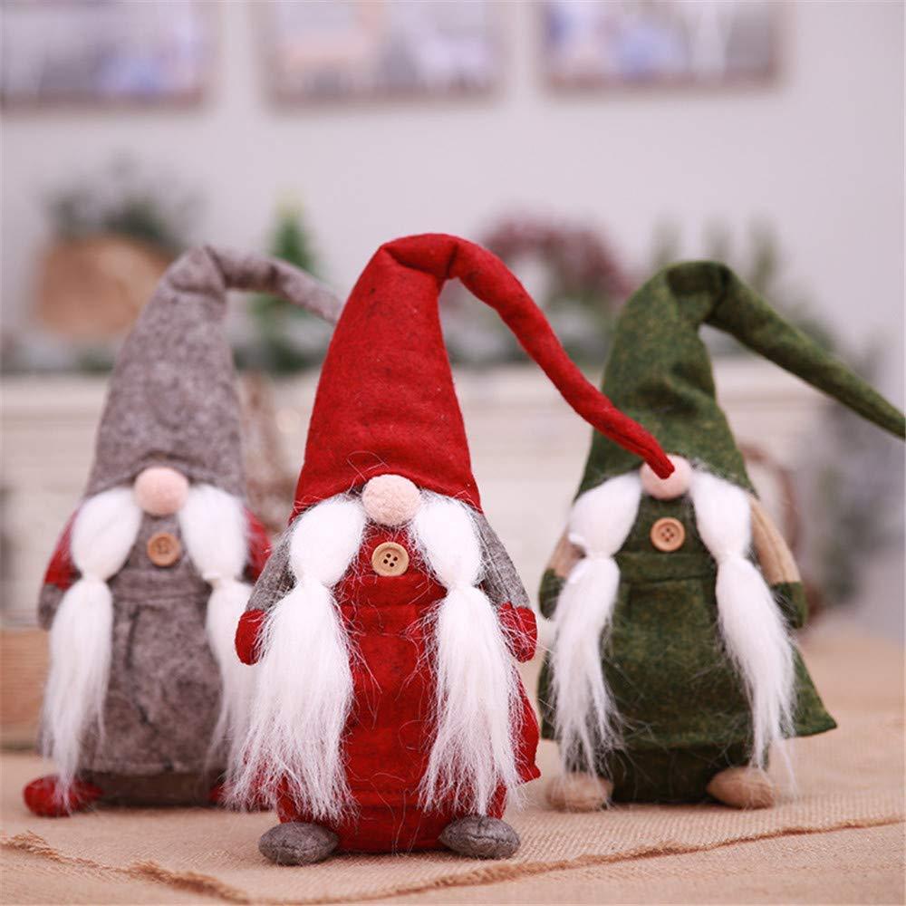 Qiusa 17 Pulgadas de decoración navideña, artesanías de Navidad Hechas a Mano Regalos Decoraciones navideñas suecas artesanías Regalos: Amazon.es: Hogar