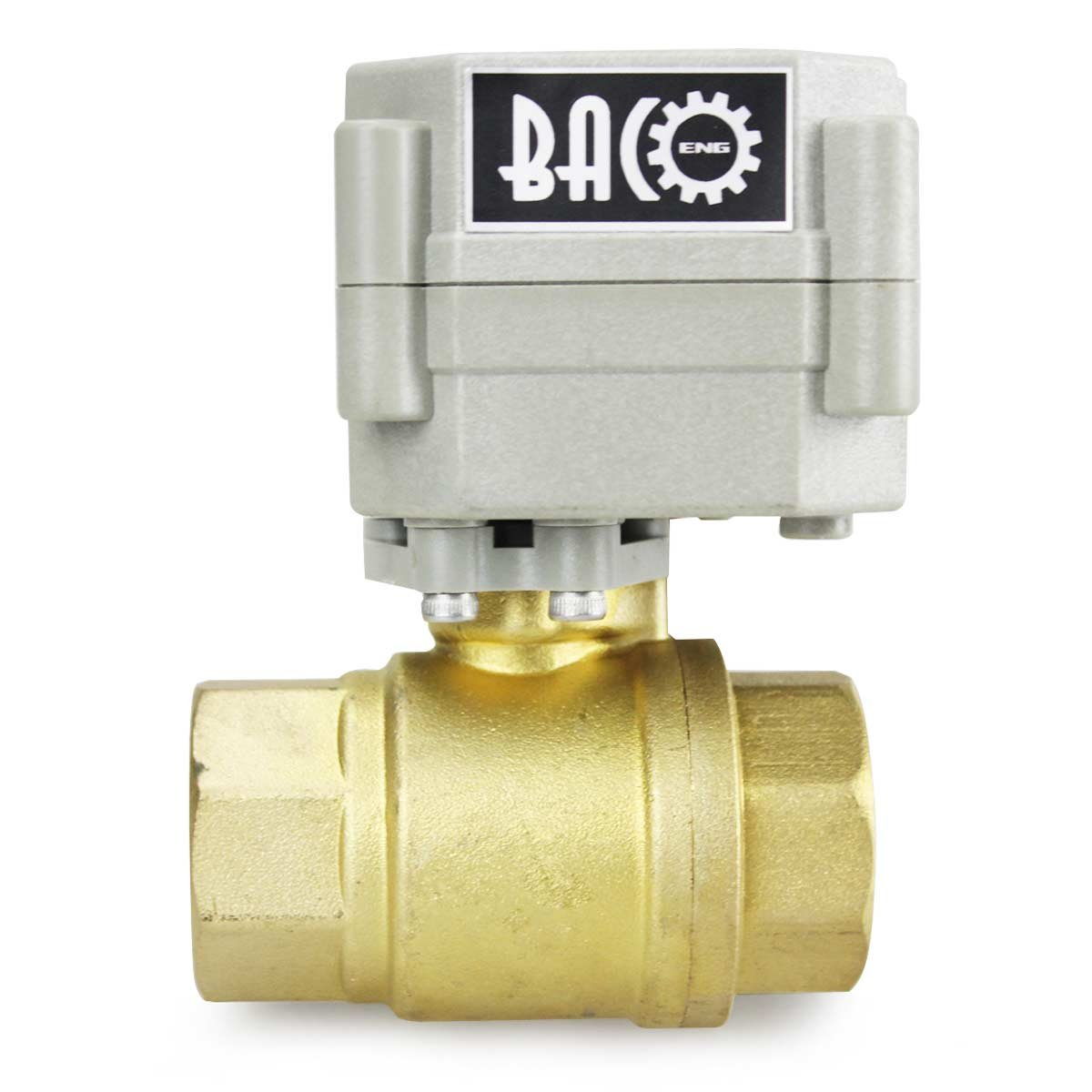 BACOENG 1 DN25 Brass BSP 2 Port Motorized Ball Valve AC110-230V CR202 2 Wires Normally Closed Electric Ball Valve