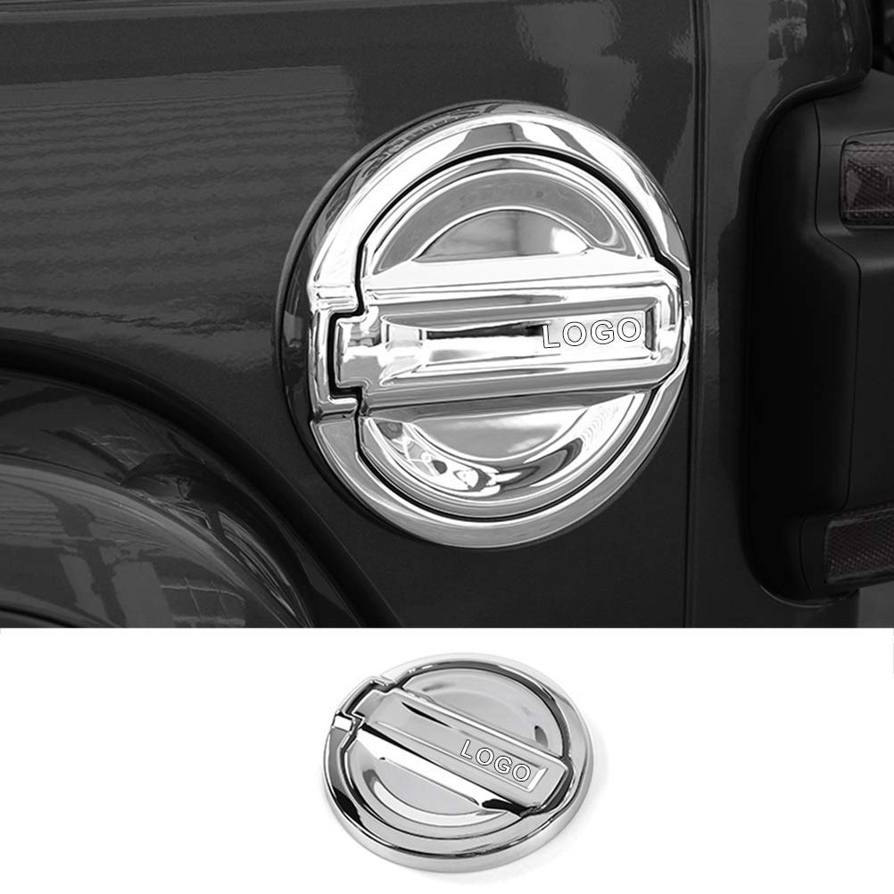 YOUNGERCAR Front Fog Light Cover Fit for 2018 2019 Jeep Wrangler JL,Exterior Fog Lamp Decorative Frame Trim Chrome ABS