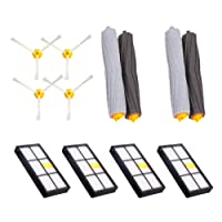 I-clean for Roomba HEPA Filters Debris Extractors Brushes for 800 Series 800 805 850 860 870 880 980 Vacuum Cleaning Replacement Accessory 4 Side Brush 2 Tangle-Free Debris Extractor
