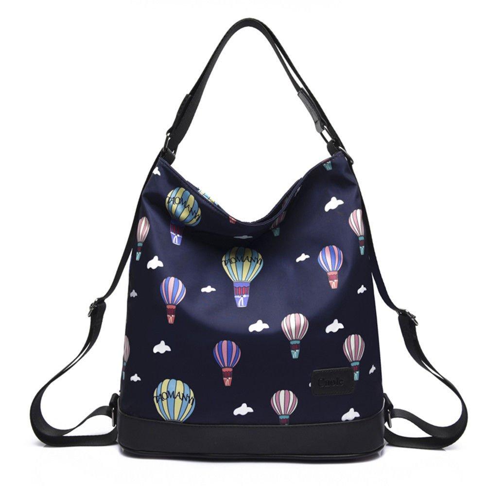 blueee 313312CM Women's Single Shoulder Bag Travel with Backpacks,Black,313312CM