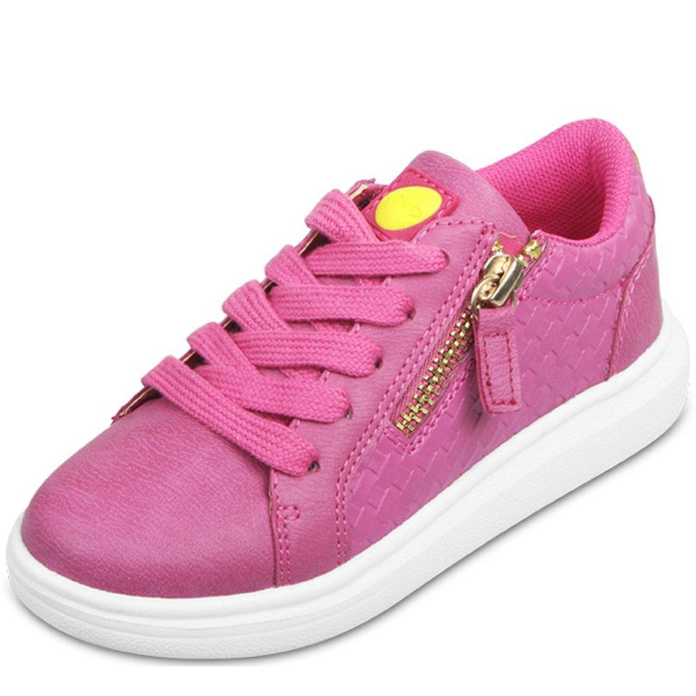Zarbrina Girls Sneakers Side Zipper Non Slip Breathable Running Sneakers For Girls(Little Kid/Big Kid)