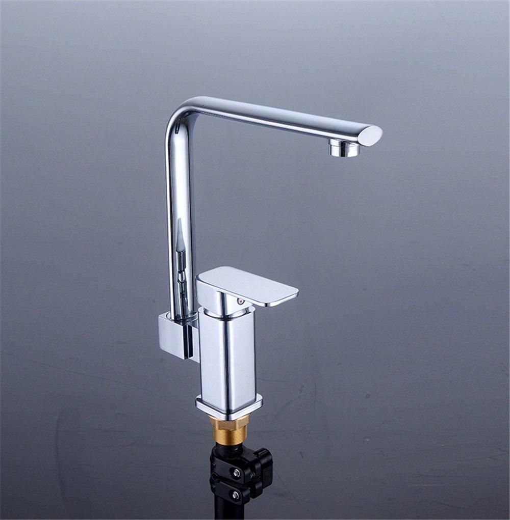 Daadi Küche Badezimmer voll Kupfer Töpfe mit kaltem Wasser, bleifreies erWeißerte Wasserhahn Küche Badezimmer Waschbecken Wasserhahn