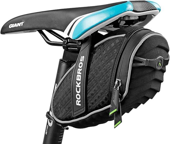 ROCKBROS Cycling Bicycle Rear Bag Waterproof Bike Seatpost Tail Saddle Bag Black