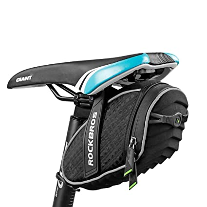 63ef4612d98 Amazon.com   RockBros 3D Shell Saddle Bag Cycling Seat Pack for Mountain  Road Bike Black   Sports   Outdoors