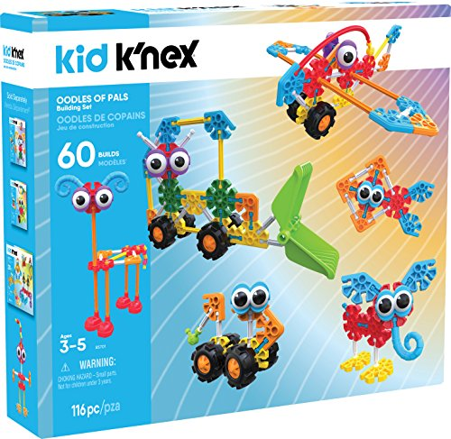 KID K'NEX – Oodles of Pals Building Set – 115 Pieces – Ages 3 and Up Preschool Educational Toy - Kid Knex Building