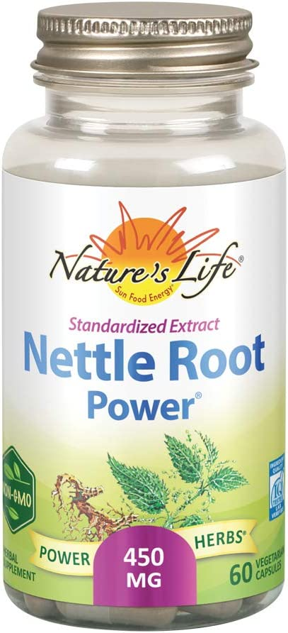 Nature's Life Nettle Root Power 450mg Herbal Supplement | Prostate & Urinary Tract Health Formula for Men | Non-GMO & Lab Verified | 60 Veg Caps