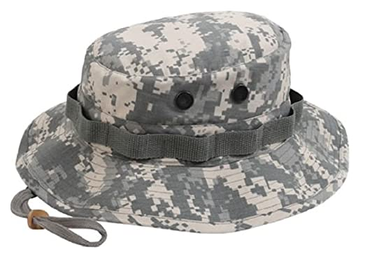 aa8bc210a6f Amazon.com  Boonie Hat Military Style Wide Brim Bucket Hat Bush Hat ...