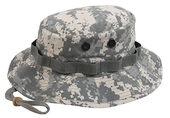 cde595268cc Image Unavailable. Image not available for. Color  Boonie Hat Military  Style Wide Brim Bucket ...