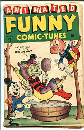 ANIMATED FUNNY COMIC-TUNES #20 1945-TIMELY-THE CREEPER-ZIGGY PIG-WWII ERA-good