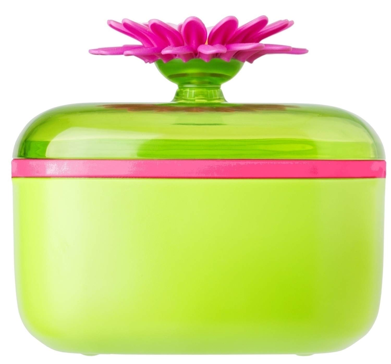 VIGAR Flower Power Green and Magenta Sugar Bowl