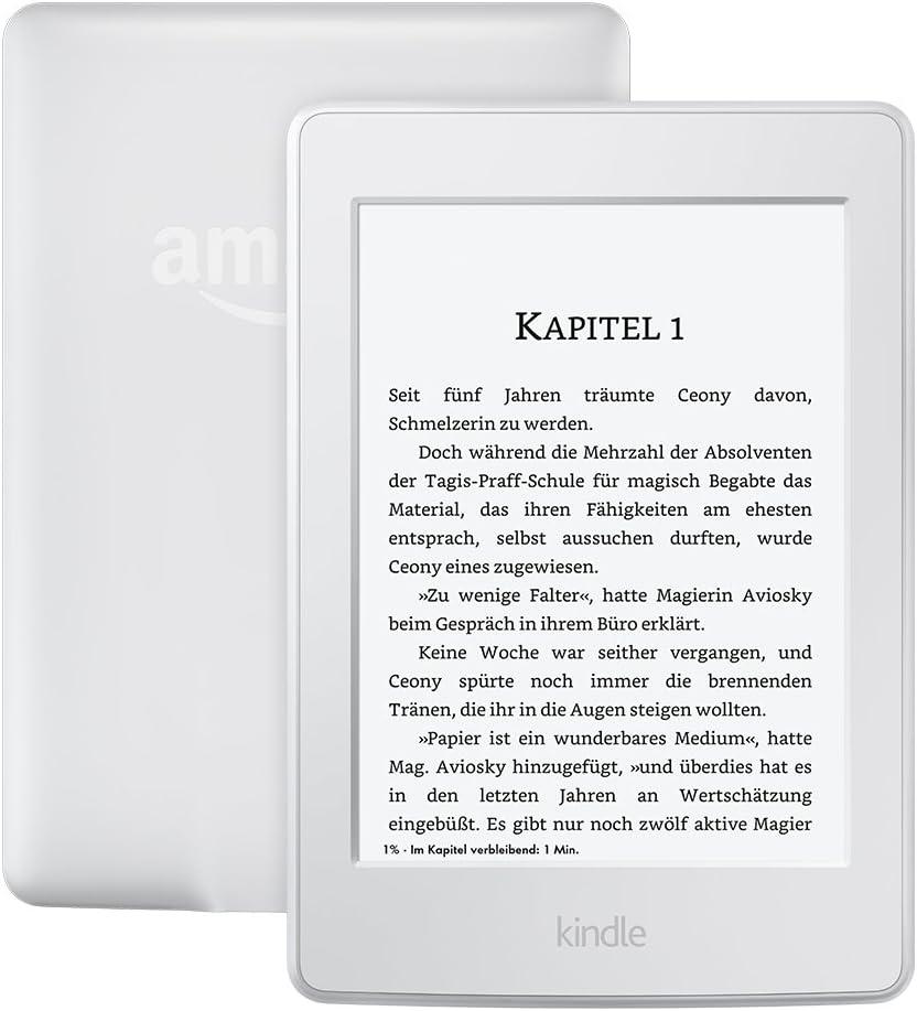 Kindle Paperwhite Vorgängermodell 7 Generation Zertifiziert Und Generalüberholt 6 Zoll 15 Cm Großes Display Integrierte Beleuchtung Wlan Weiß Amazon Devices