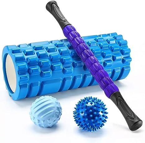 Finether-Rodillo de Espuma para Masaje Muscular Foam Roller Kit de ...