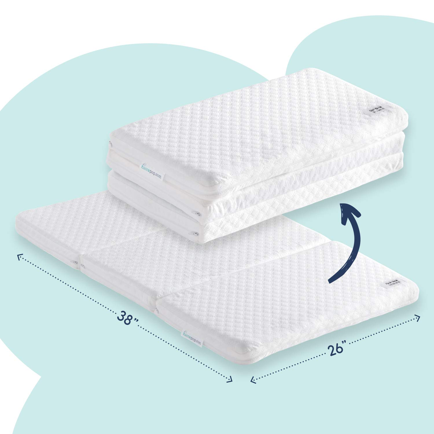Amazon Com Hiccapop Tri Fold Pack N Play Mattress Pad With Firm