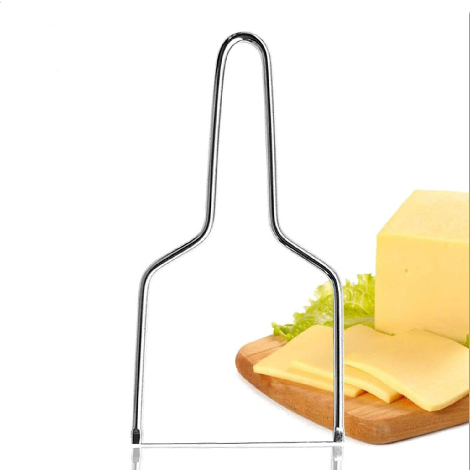 Cheese Slicer, Stainless Steel Cheese Knives Slicers with Wire - Handheld Butter Cutter Tools for Soft Hard Block Cheese of Kitchen Tools - Made of Medical Grade Steel by Aiugko