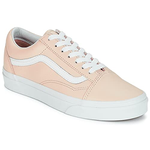 cac8131cc21 Vans - Old Skool - Leather - Sand Collar  Amazon.co.uk  Shoes   Bags