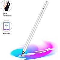 Touch Screen Stylus Pen For iOS Android Windows Smart Phone Tablet iPhone 11 iPad Pro Samsung Huawei - Silver/White…