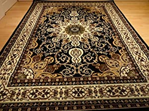 Amazon Com Black Persian Style 5x8 Oriental Area Rug 5x7