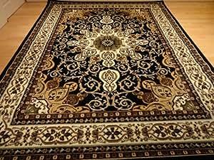 Amazoncom Black Persian Style 5x8 Oriental Area Rug 5x7