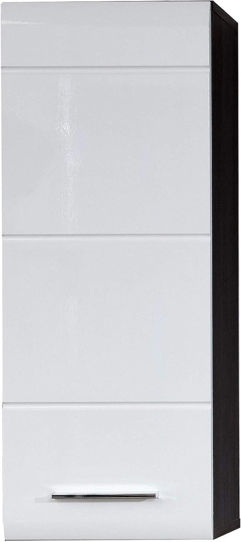 60 x 57 x 31 cm Line Maisonnerie Sardegna Meuble sous lavabo avec Beaucoup despace de Rangement Blanc Brillant//Argent fumee