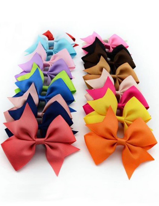 Kaimu 10pcs Girls Ribbon Bow Hair Clip Kids Alligator Clips Party Hair Accessories Facial Hair
