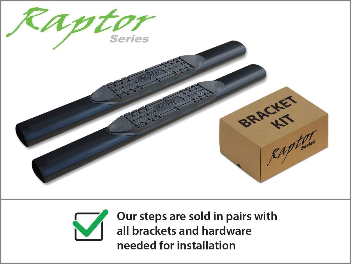 Raptor Series 0804-0091B 5 inch Oval Black Side Bar Steps For 07-20 Toyota Tundra Regular Cab