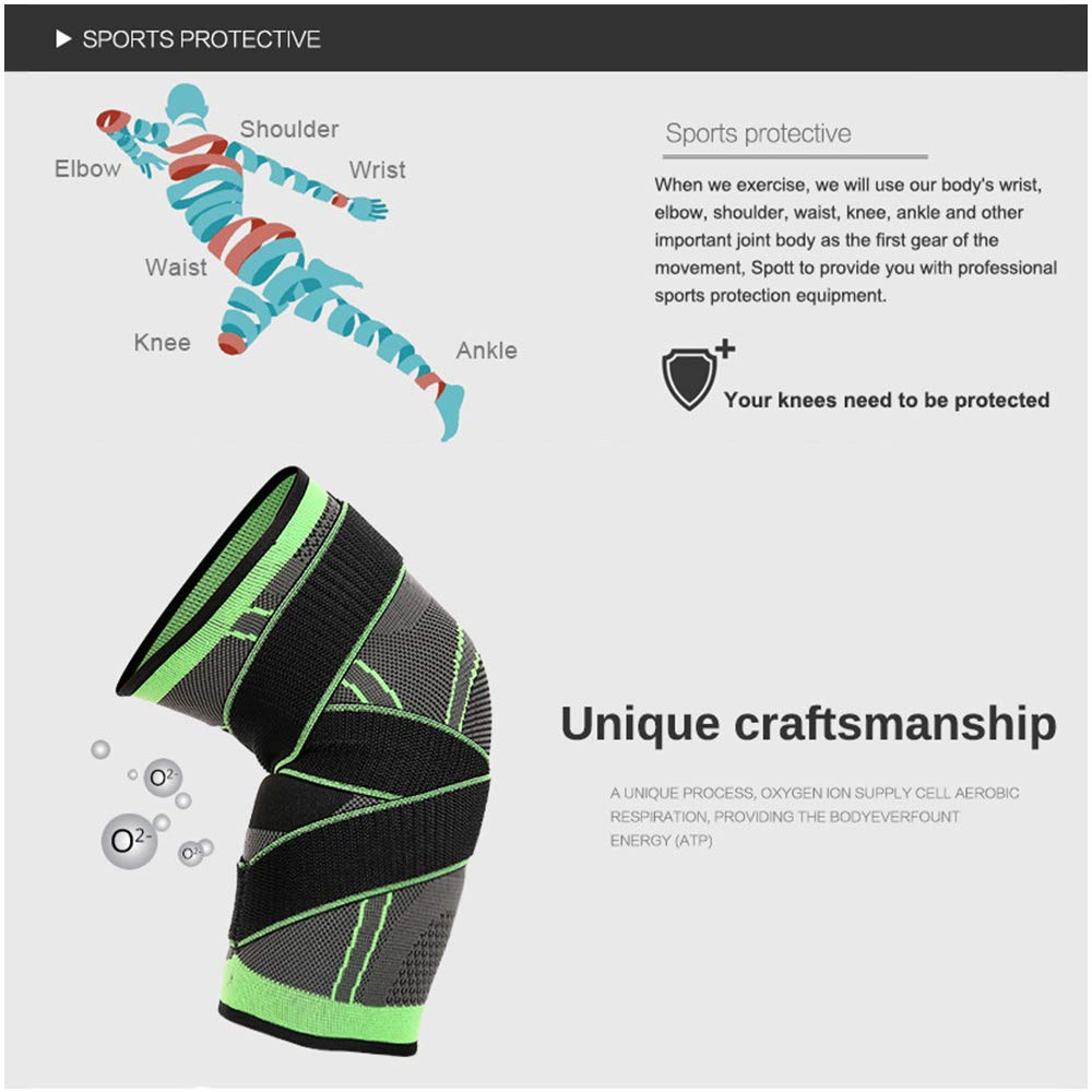 Z-rose Kniebandage,Knee Brace Support Pad,Breathable Anti-Slip,Verstellbarem Gurt f/ür Meniskusriss,das Wandern Laufen Basketball Volleyball