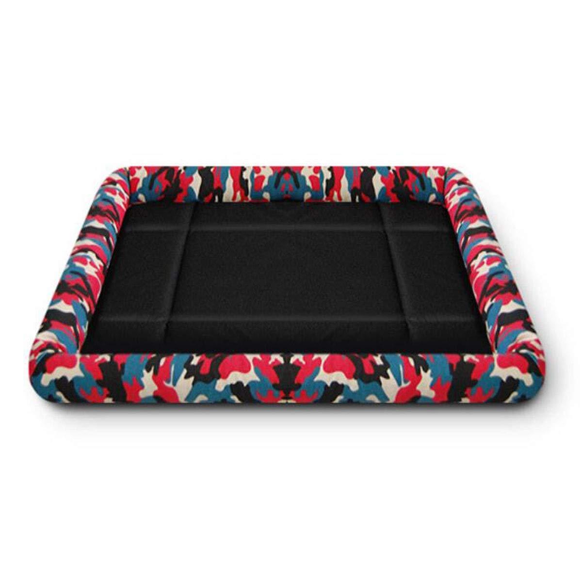 Black SJiansheng Dog Bed, Dog Mattress, Large And Medium Pet Waterproof Sleeping Mat, Dog Cage Sofa Floor Car Sleeping Mat Foldable, bluee XL (color   Black, Size   S)